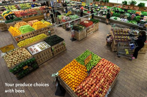 Un étal de supermarché aujourd'hui. (PRNewsFoto/Whole Foods Market)