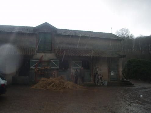 La ferme du Bois Champeau sous la pluie...